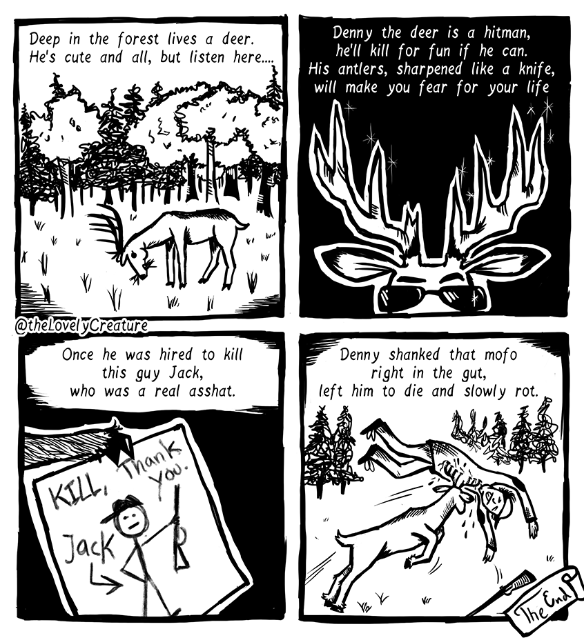 deer-kill-hunter-hitman-comic