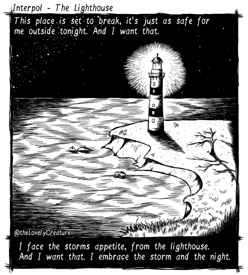 interpol song illustrated lighthouse