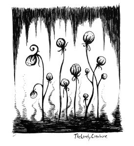 uhyggelige blomster tegning