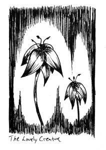blomster tegning sort hvid