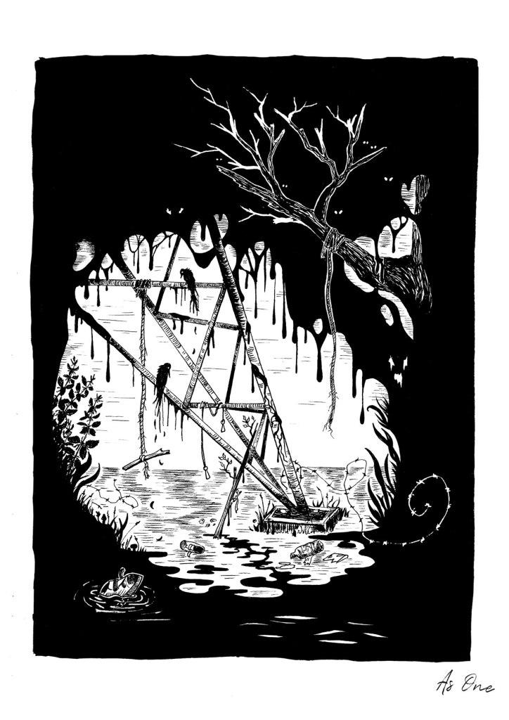 As-One-suede-insp-Blue-Hour-Illustration-art-brett-anderson-pernille-gregersen-thelovelycreature