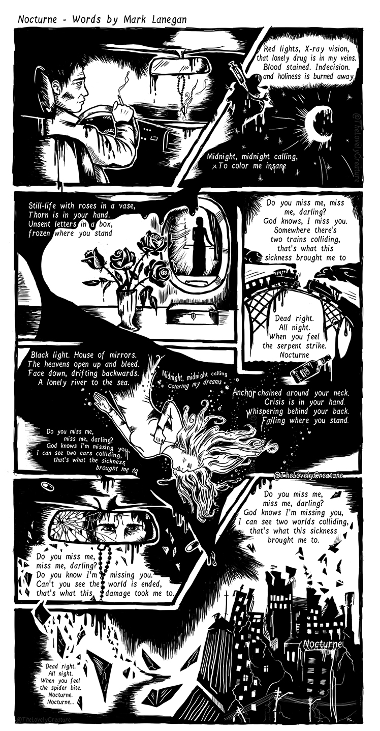 mark lanegan song illustrated as a comic norcturne
