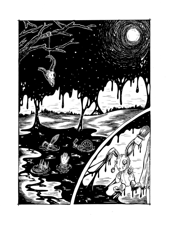Horror-thelovelycreature-pernille-gregersen-illustration-SMALL