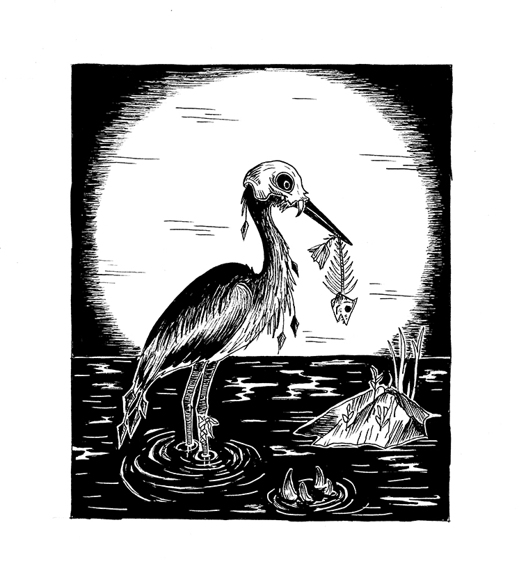 03-bird-with-fish-bones-skull-hejre-hejremanden-thelovelycreature