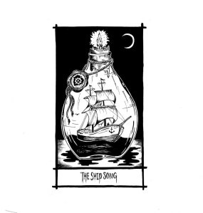 ship in a bottle illustration of the song Ship Song by nick cave