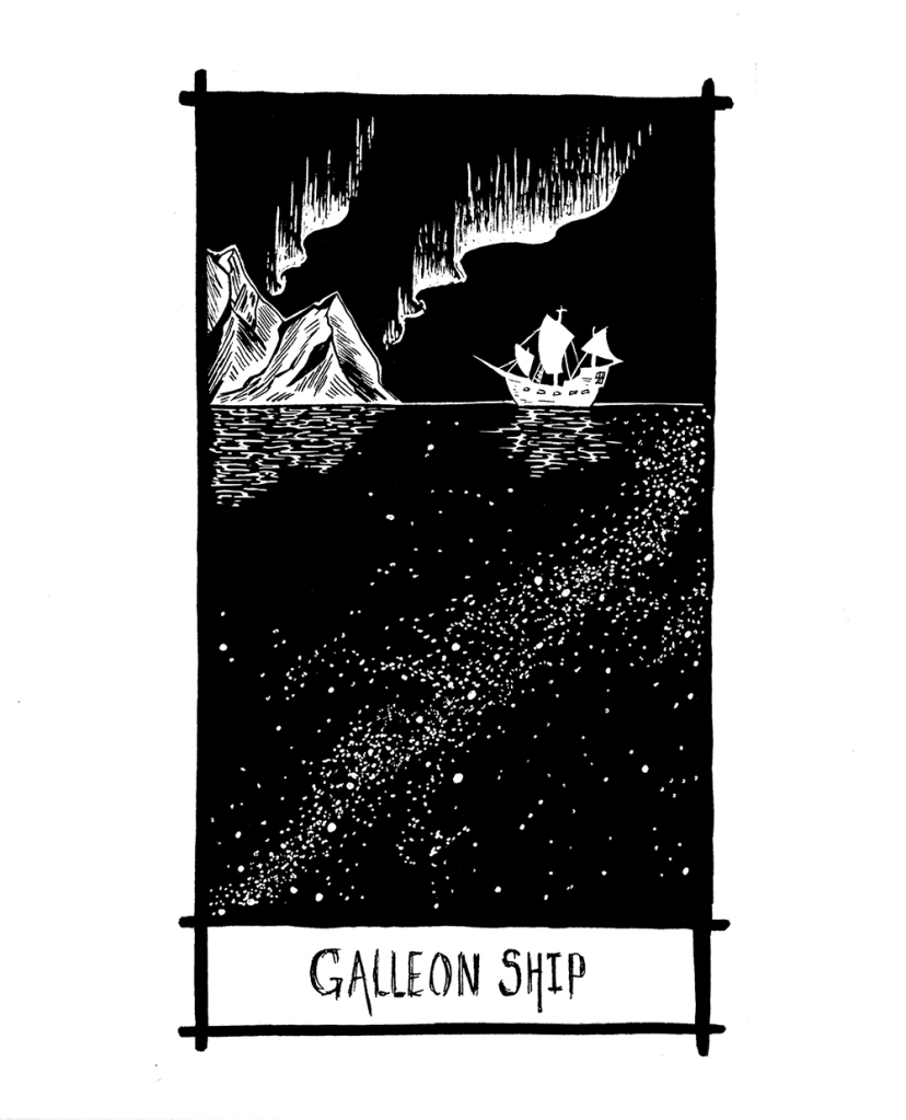 thelovelycreature-pernille-gregersen-lovely-creature-nick-cave-tarot-card-galleon-ship