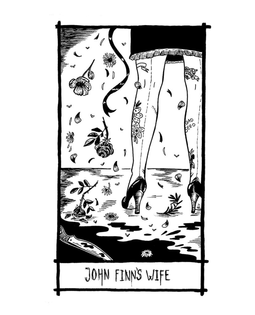 thelovelycreature-pernille-gregersen-lovely-creature-nick-cave-tarot-card-john-fins-wife